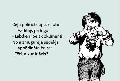 bērns raud mašīna