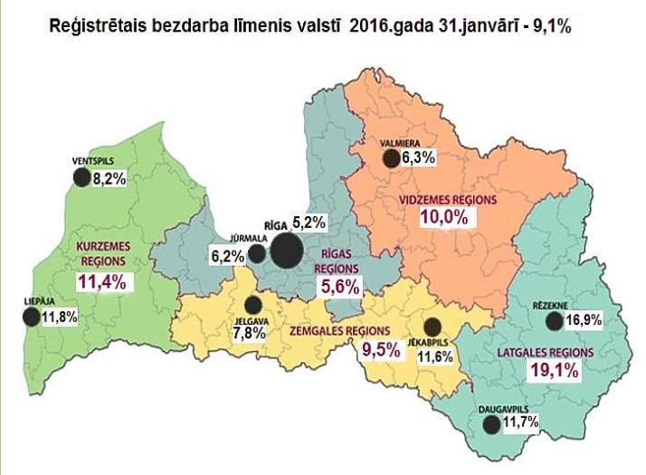 latvijā bezdarbs